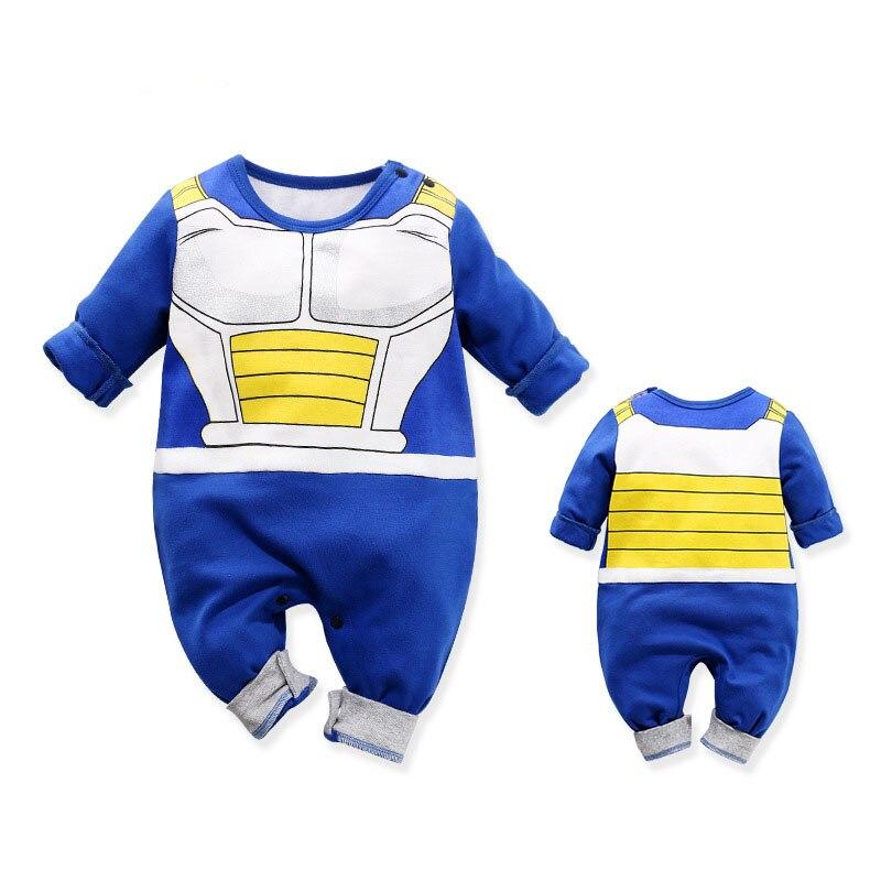 Bebê recém-nascido roupas do menino macacão 100% algodão dragão dbz bola z traje do dia das bruxas infantil macacões de manga longa recém-nascidos