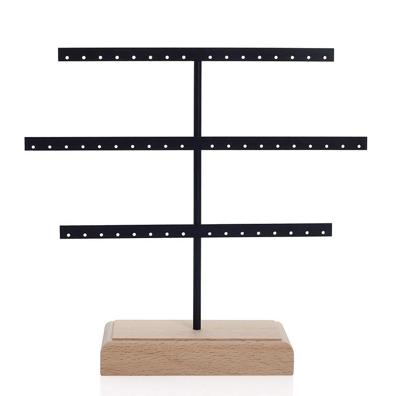 Модный Органайзер на 52 крючка для сережек, органайзер для сережек, подвесной держатель, подставка для колье, подставка, держатель, вешалка для ювелирных изделий