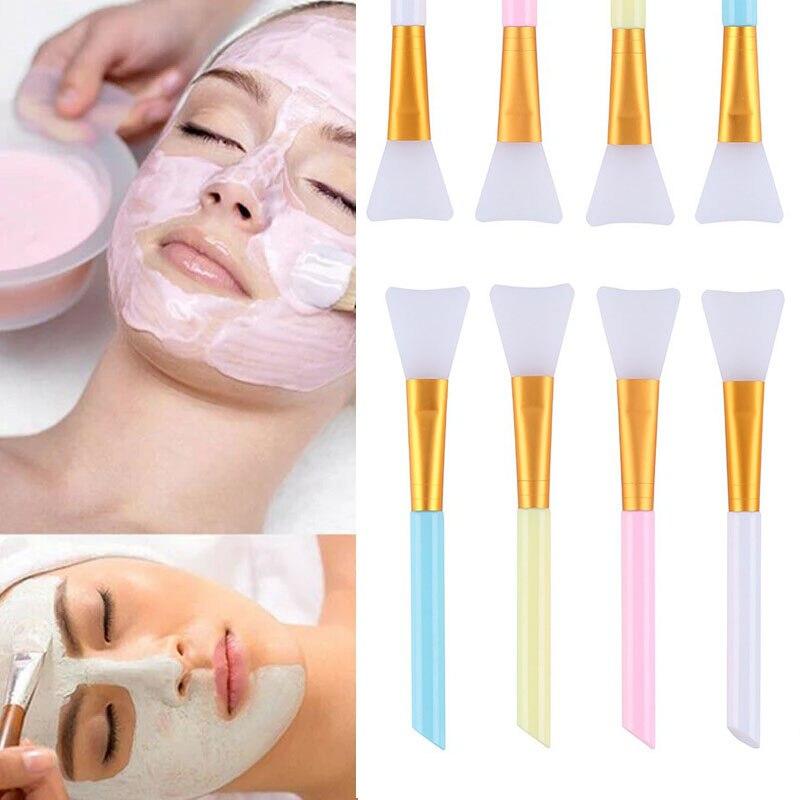 1PC Face Brush Soft Mask Mud Brush Facial Ultra-fine Hair Shape 3D Natural Contour Scrub Professiona