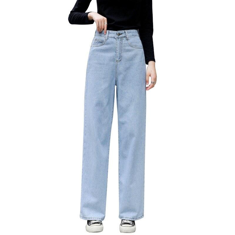 Джинсы с высокой талией, женские широкие брюки, джинсовые брюки, повседневные джинсы для мам, Женские Широкие джинсовые брюки 2021, Свободные ...
