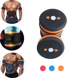 Eletroestimulação abdominal recarregável, tonificador muscular smart em abs, unidade principal, exercício, almofada em gel, adesivo, 1 peça