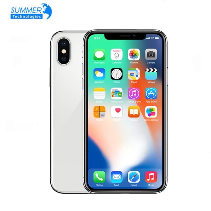 "iPhone X Original Unlocked Apple Smartphones A11 iOS Hexa Face ID RAM 64/256GB Dual Rear Camera 12MP 4G NFC 5.8"" Used Phone"