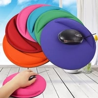 1pc round wrist rest support game mouse mice mat pad for computer pc laptop soft mousepad soild color
