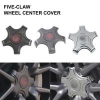 4pcs car wheel center hub cover center cap emblem car styling modification carbon abs fiber for tesla model 3 car accessories