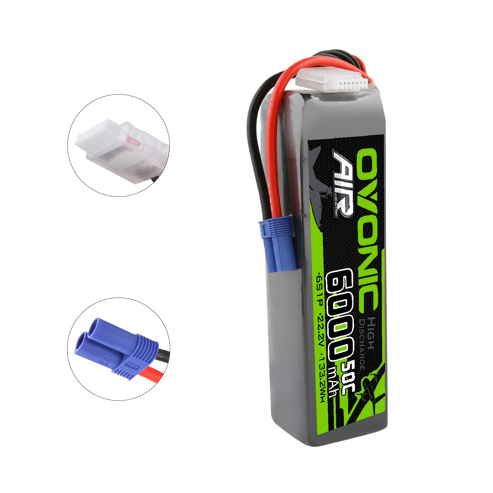 Ovonic Lipo Battery 22.2V 6000mAh 50C EC5 Plug 6S RC Lipo Batteries for RC Car Boat Truck Drone Racing FPV Helicopter enlarge