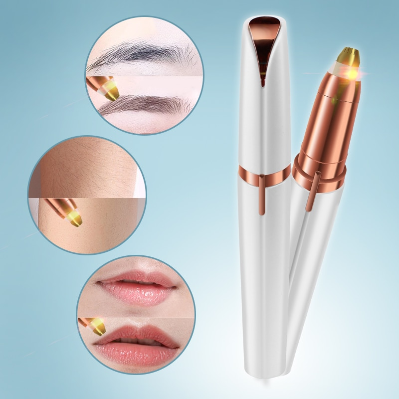 Electric Eyebrow Trimmer Makeup Painless Eye Brow Epilator Mini Shaver Razors Portable Facial Hair R