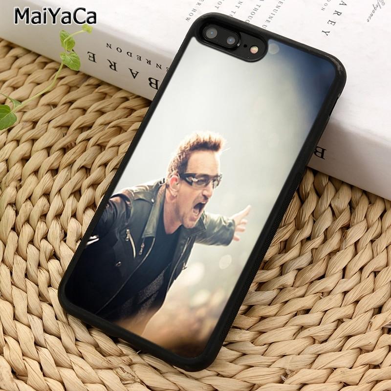 MaiYaCa de U2 cantante Bono funda para teléfono para iPhone X XR XS 11 Pro MAX 5 5 5 6 6 7 8 Plus, Samsung Galaxy S5 S6 S7 S8 S9 S10