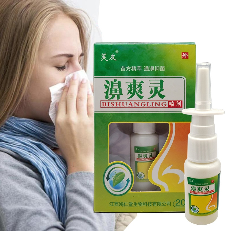 China Herbal Nose Spray BiShuangLing Miao Nationality Essence Treat Rhinitis Clean Nose Care Health