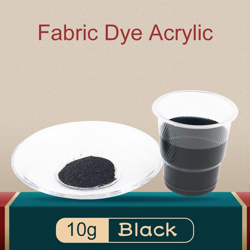 10 г, черная краска для ткани, акриловая краска, порошок для одежды, текстильная краска, красители для обновления одежды