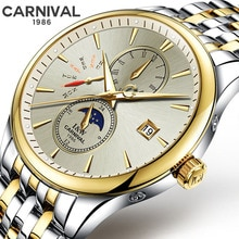 New CARNIVAL Sapphire Crystal Men's Mechanical Watches Automatic Mens Top Brand Luxury watch men Wri