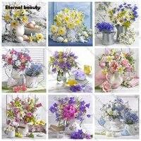 Peinture diamant 5D bricolage-meme  broderie complete  fleurs fraiches  Vase  mosaique  broderie  travaux daiguille  travaux dart faits a la main pour decoration de la maison