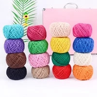 1pcs jute twine color tag rope diy hand woven photo craft packaging wedding christmas party decoration supplies retro jute twine