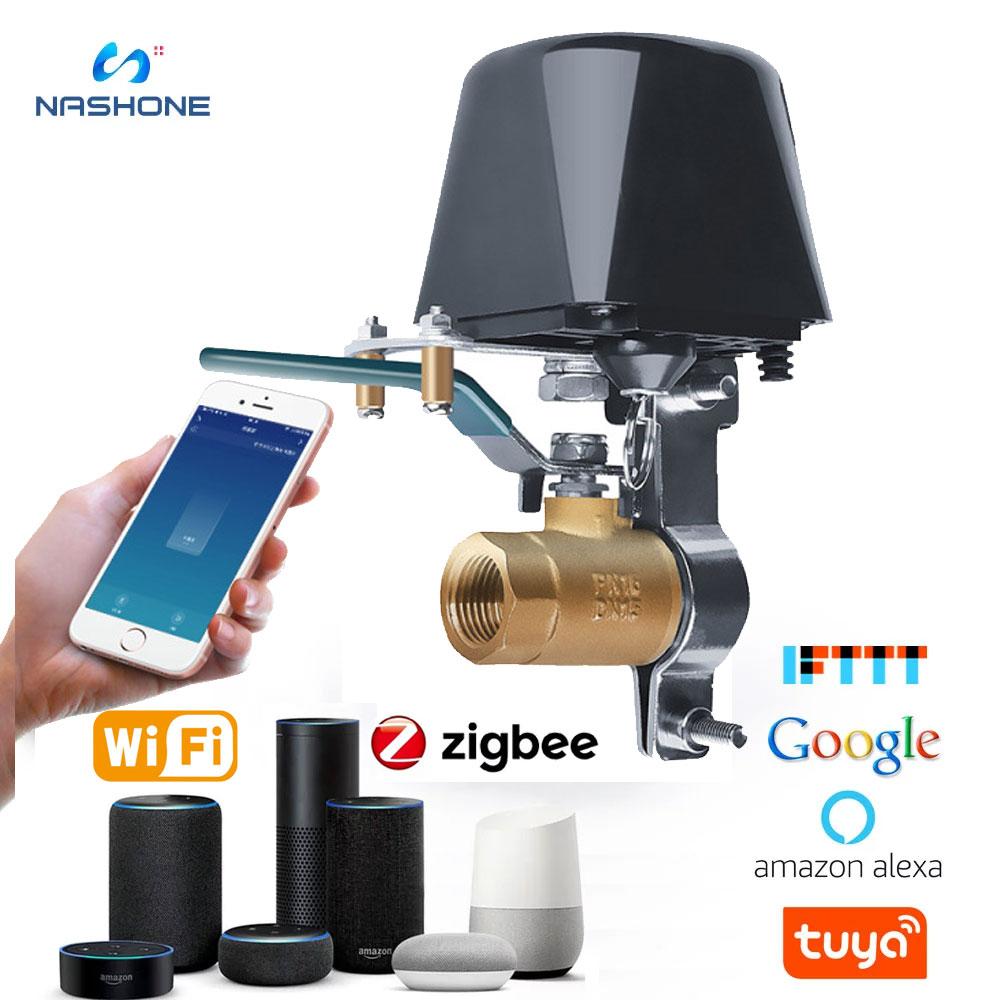 Tuya Zigbee Watering Timer Smart Wifi  Water Gas Valve Garden Water Timer Wifi Shutoff Work With Alexa Google