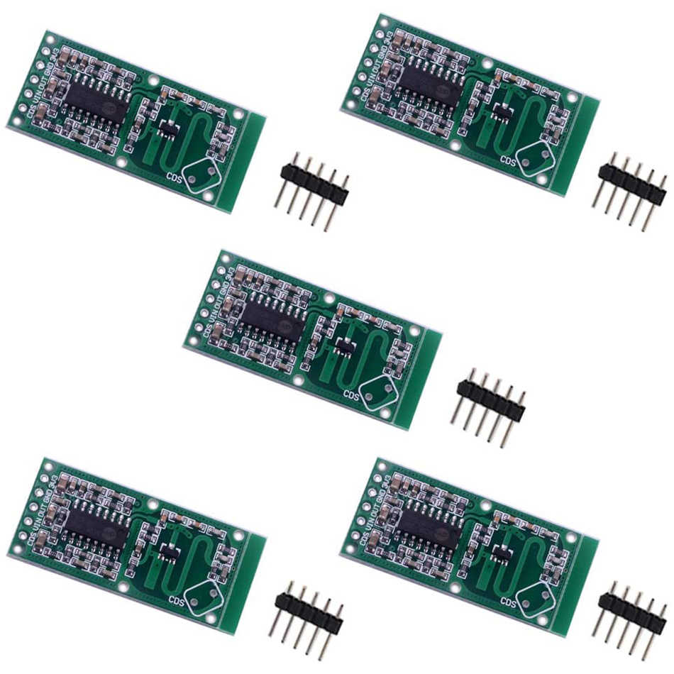 5pcs Smart Electronics RCWL-0516 microwave radar sensor module Human body induction switch module Intelligent sensor 37 a sensor suite sensor module electronic module sensor robotics kit smart car