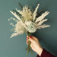 Новые белые Искусственные цветы, высококачественный Шелковый Одуванчик, гибридный букет из пластика эвкалипта, свадебное украшение для до...