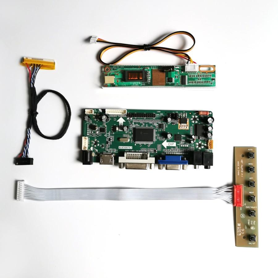 """Para B150XG01 V2 1024*768 15 """"M.NT68676 controlador de pantalla, tarjeta de unidad VGA HDMI DVI LVDS 30pin CCFL monitor de PC, kit DIY de panel LCD"""