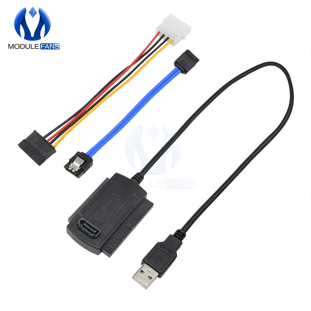 Cable convertidor adaptador SATA/PATA/IDE a USB 2,0 para disco duro de 2,5...