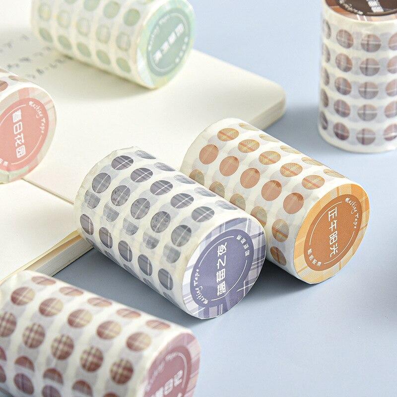 Puntos de papelería conjunto de cintas Washi pegatinas de papel Washi suministros de oficina diario cinta adhesiva puntos coreano Washi organizador de la etiqueta engomada