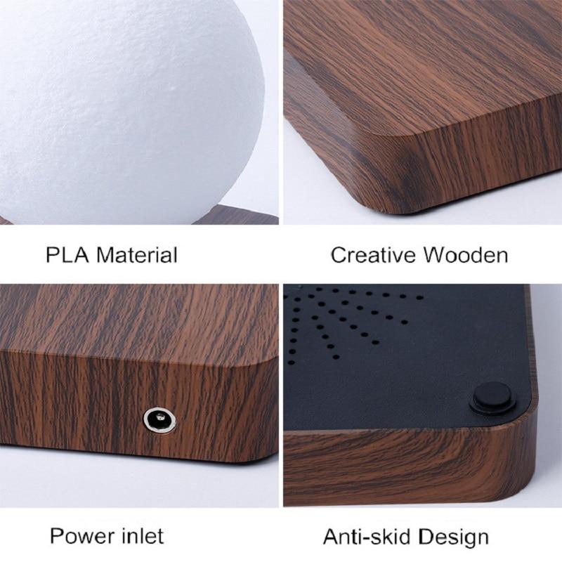 Moon Lamp Creative 3D Magnetic Levitation LED Night Lights Rotating Saturn Light Floating Table Lamp Home Decoration Kids Gift enlarge