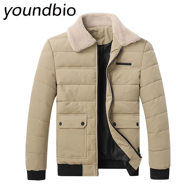 Men Casual Warm Jacket Parkas Coat Autumn Outwear Jacket Men Parkas Mens Fashion Casual Jacket Pockets Zipper Overcoats