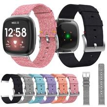 For Fitbit Versa 3 Canvas Strap Bracelet Wristband Replacement Versa3 Women Men Watchband for Fitbit