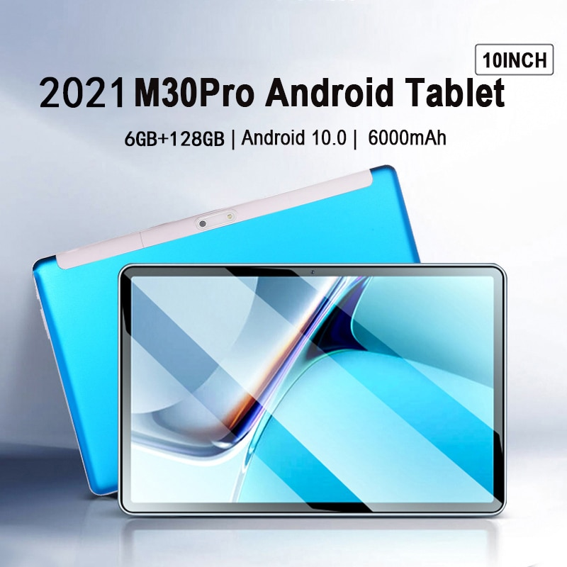 New 10.1'' M30 Pro Tablet 1920x1200 IPS 6GB RAM 128GB ROM  Android Tablet 10Core Tablets PC Android