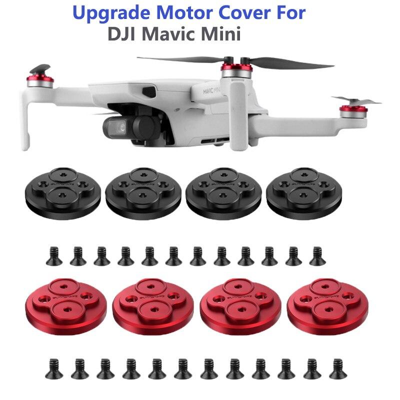 Cubiertas de Motor mejoradas hélices a prueba de arañazos cubierta protectora del Motor de aleación de aluminio para accesorios de Mini Drone DJI Mavic