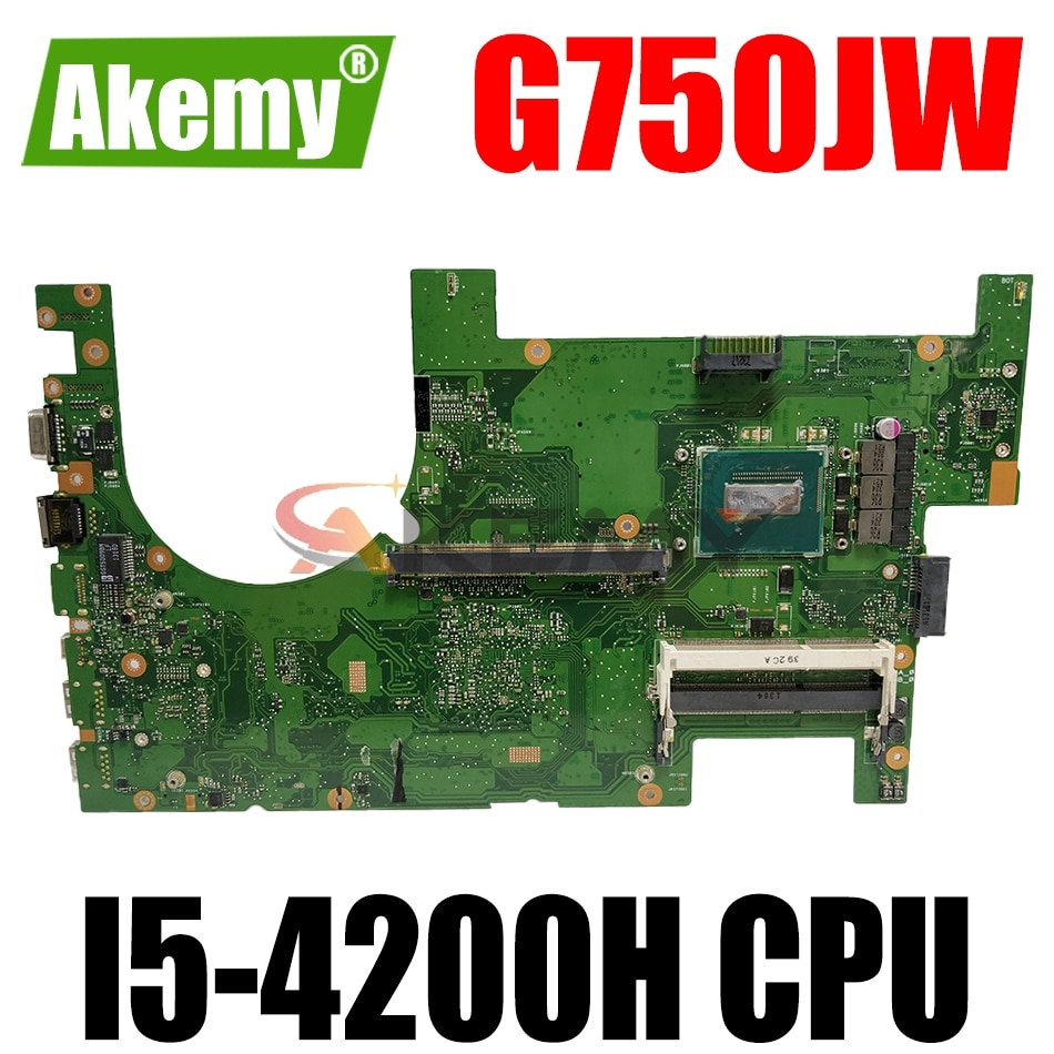 AKEMY G750JW اللوحة الأم لأجهزة الكمبيوتر المحمول ASUS G750JH G750J اللوحة الرئيسية الأصلية 2D I5-4200H