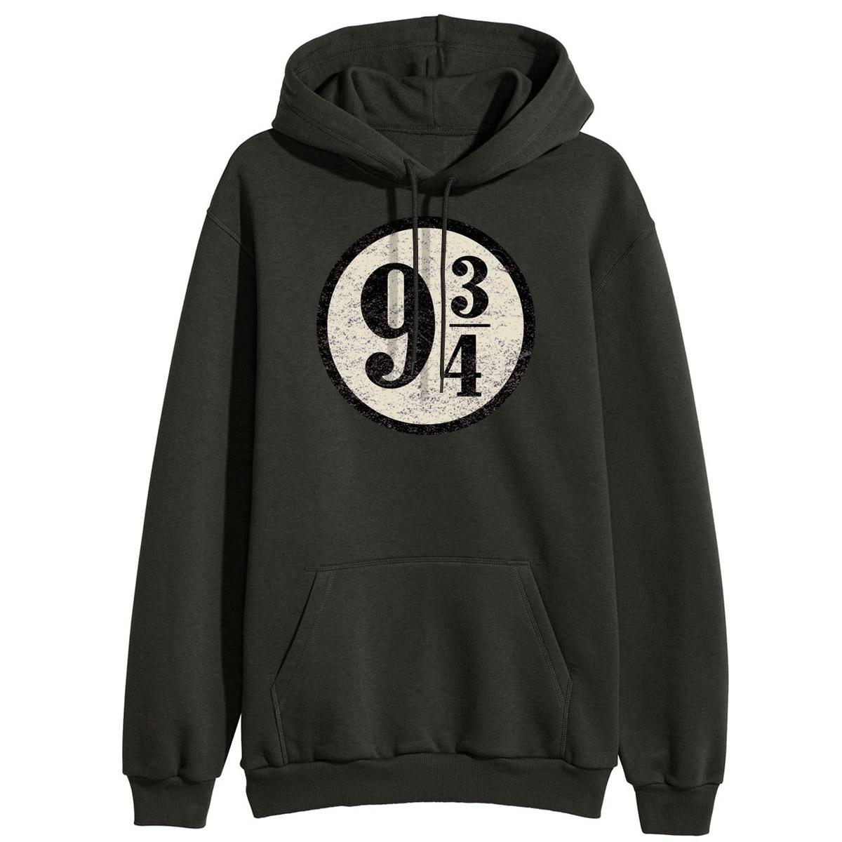 Women Black Hoodies Winter Sweatshirts Platform 9-3/4 Hogwarts Hoodies 2019 Women New Arrival Letter Casual Outerwear Pullover
