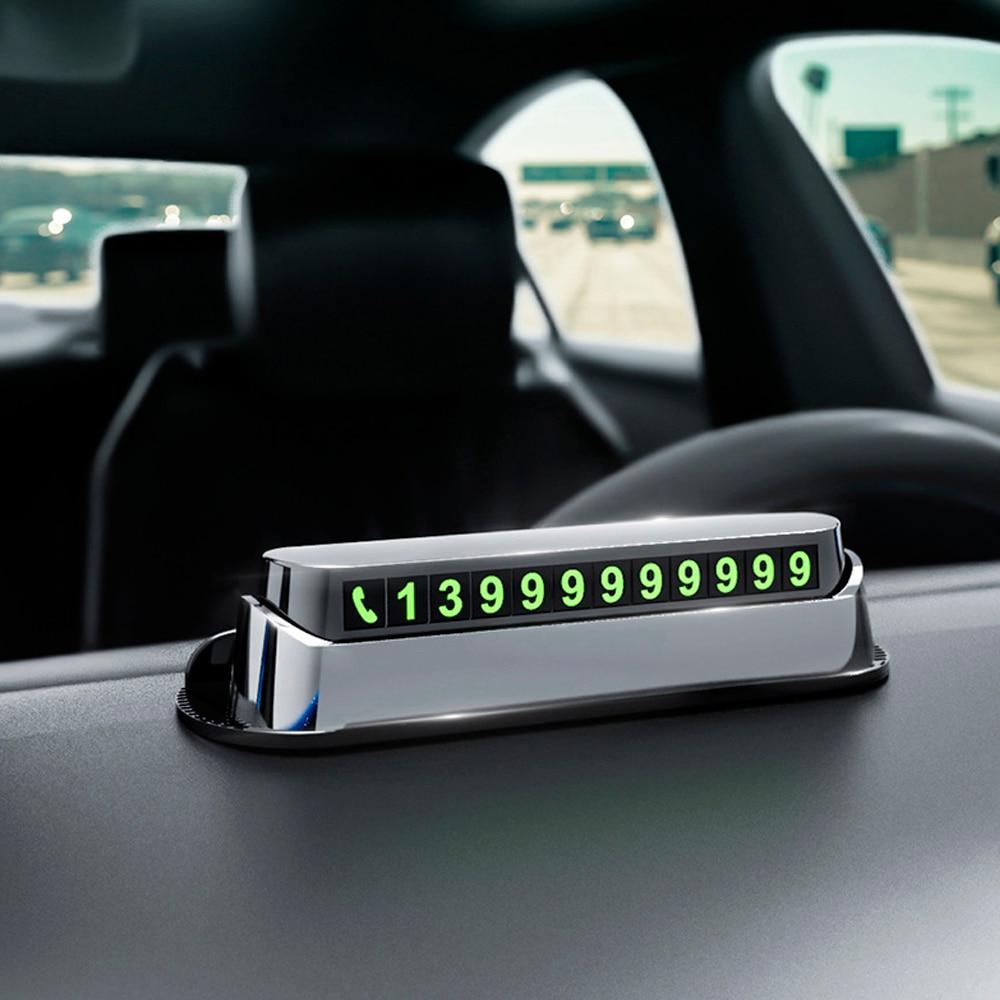 Автомобильная карточка с телефоном для временной парковки, автомобильные аксессуары для парковки, парковочная автовизитка