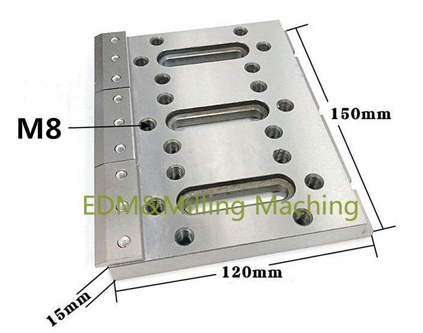 مشبك تمديد آلة EDM ، حامل تهزهز من الفولاذ المقاوم للصدأ لآلة Sodick DWC ، 150x120x15 مللي متر