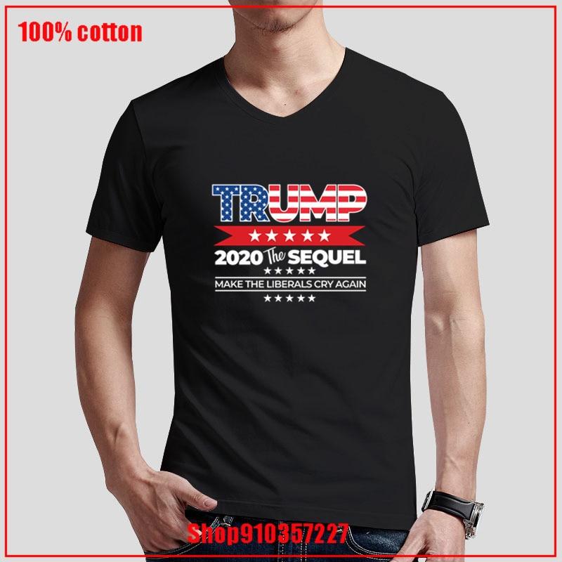 Nós as pessoas trump 2020 a sequela fazer liberais chorar novamente cor diversificada casal v pescoço t-shirts acolhedor e respirável