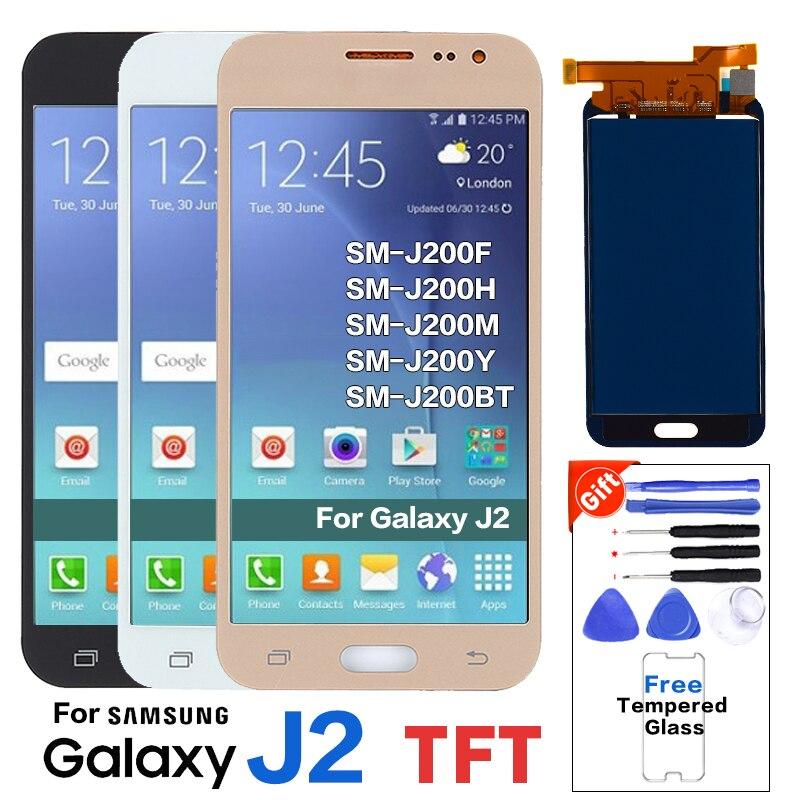 Для samsung Galaxy J2 SM-J200F ЖК-экран для samsung J2 SM-J200H J200M J200Y J200BT Pantalla Замена ЖК-дисплея