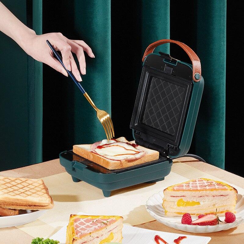 Sandwichera para el hogar, máquina tostadora para desayuno, Waffle, Sandwichera ligera, máquina...