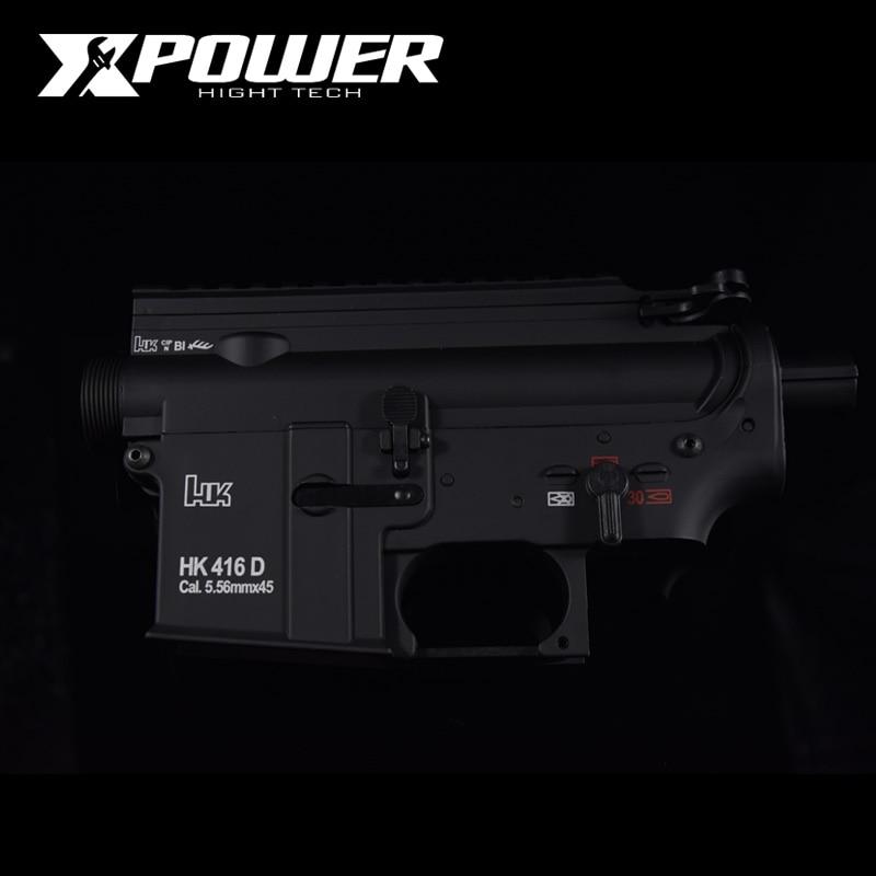 XPOWER HK416D Receiver Airsoft Accessories AEG Body Nylon Metal Gel Split Gearbox Paintball Outdoor Sports Paintball Air Gun