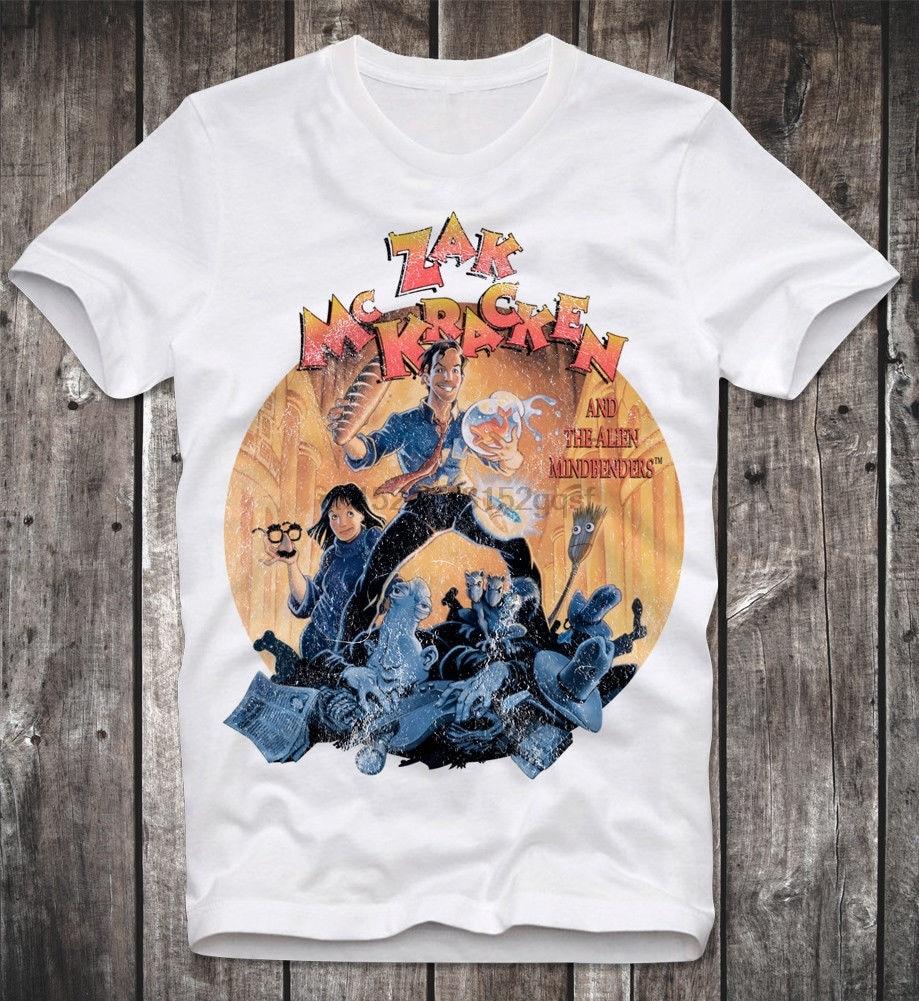 Camiseta ZAK MC KRACKEN C64 COMMODORE AMIGA GEEK GAMER RETRO VINTAGE 100% algodón manga corta cuello redondo Tops camisetas