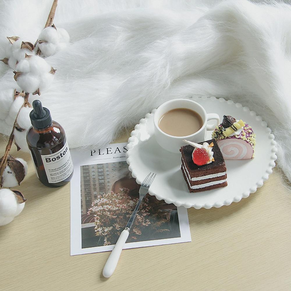 50x50cm White Long Plush Photo Carpet Shoot Photo Blanket Background Cloth Soft Mat For Newborn Home Photography Prop Decoration enlarge
