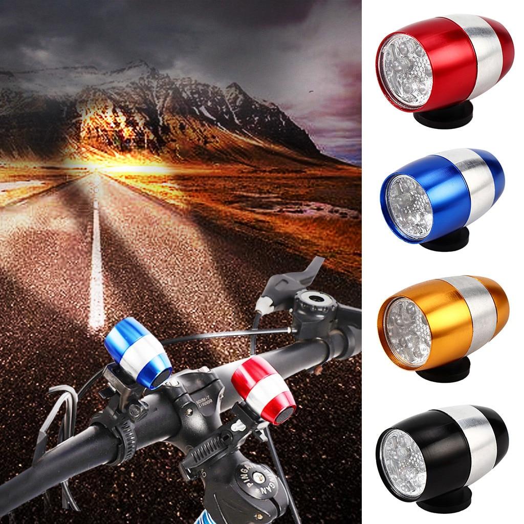 Linterna de bicicleta de montaña Luz de horquilla delantera de bicicleta de aleación de aluminio faro trasero CR2032 botón batería Luz de senderismo
