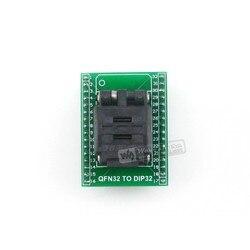 Qfn32 para dip32 plastronics ic teste soquete programador adaptador 5x5mm 0.5 passo para qfn32 mlf32 mlp32 pacote