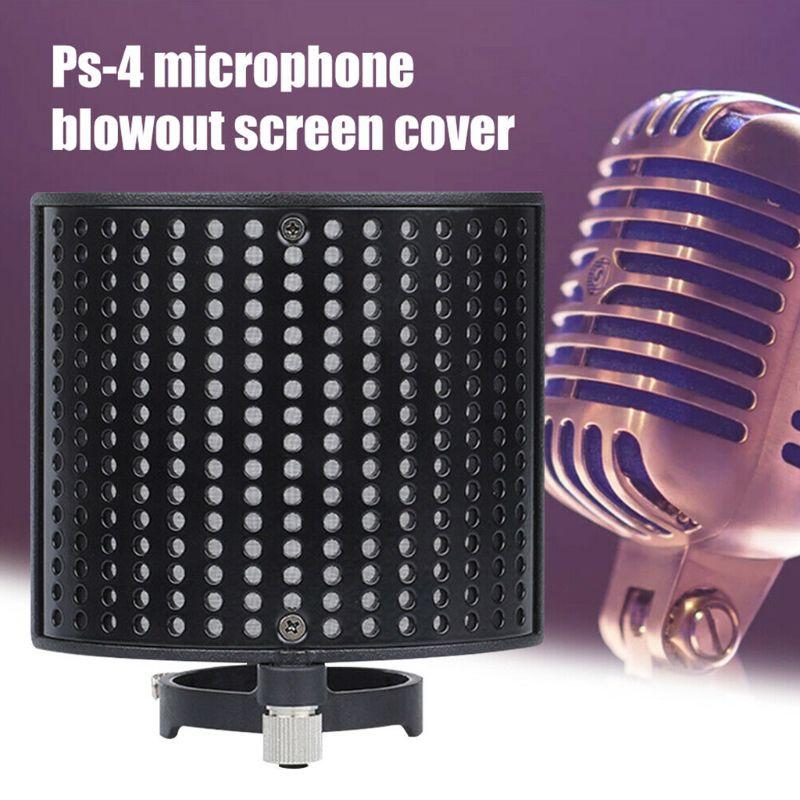Protector de malla de grabación de doble capa Filtro de micrófono tipo U cubierta a prueba de polvo de parabrisas