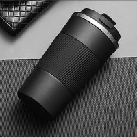 510ml double stainless steel coffee thermos mug with non slip case car vacuum flask travel insulated bottle
