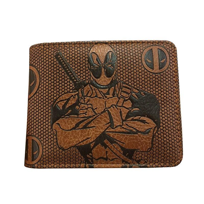 Cartera Marvel los Vengadores cartera Dc Comics Liga de la justicia monedero Deadpool Batman billetera de Superman niño regalo de cumpleaños