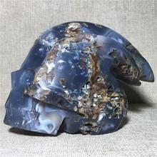 natural Agate geode cranium quartz crystal specimen Home furnishing decoration stone and crystal Reiki healing amethyst skulls