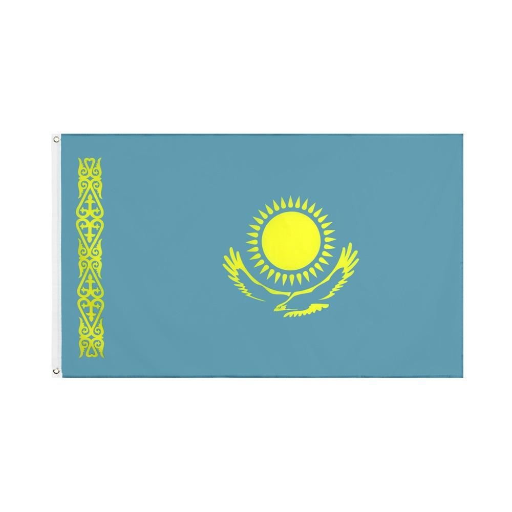 Декоративный баннер с флагом Казахстана, 3x5 футов