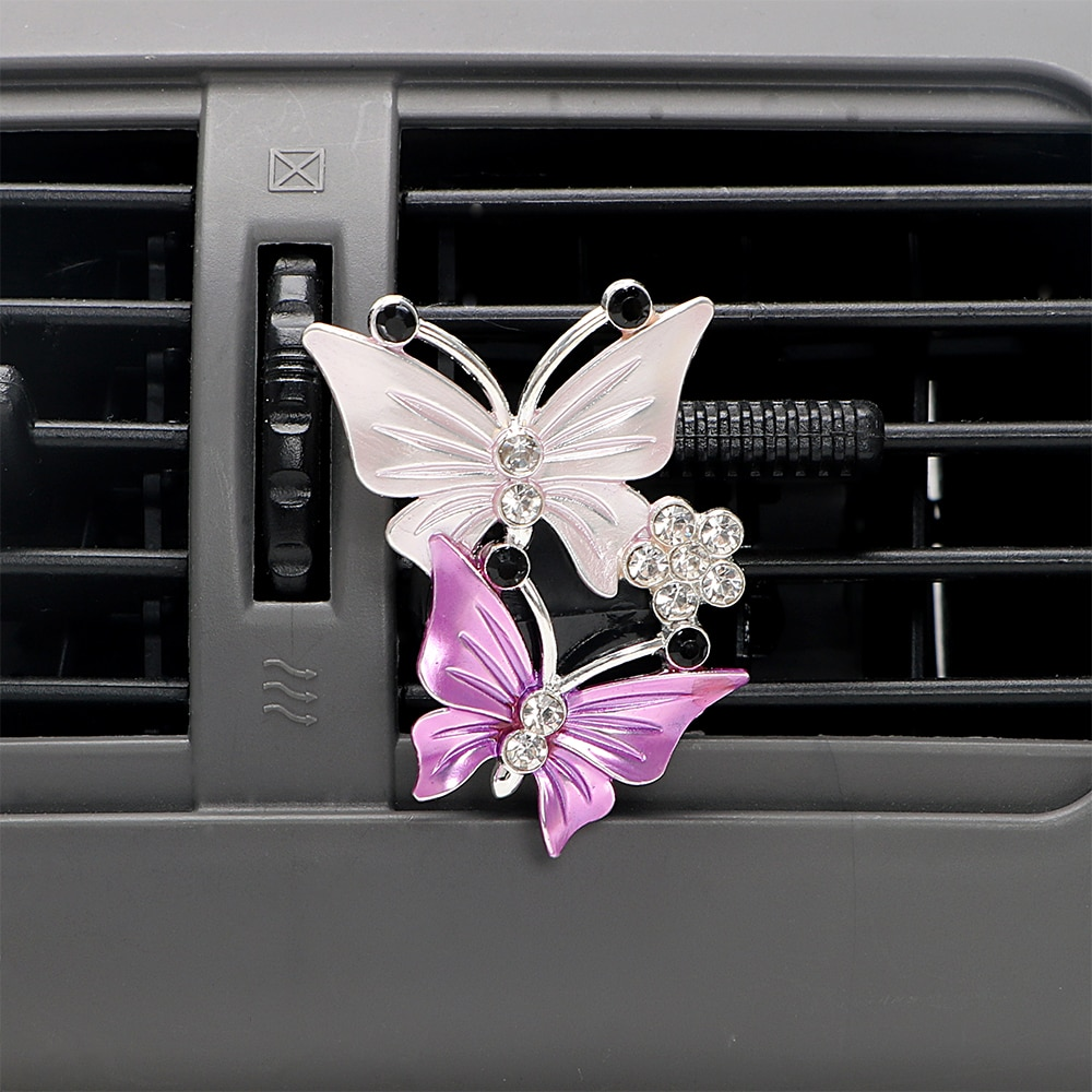 Air Freshener Air Conditioner Outlet Clip Fragrance Natural Smell Butterfly Car Perfume Decoration A