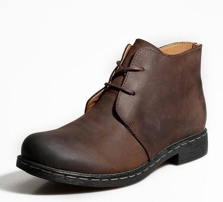 جلد مارتن الأحذية الشتاء عالية الجودة نمط أحذية الرجال الأدوات الأحذية الأحذية الجلدية أحذية كبيرة الحجم
