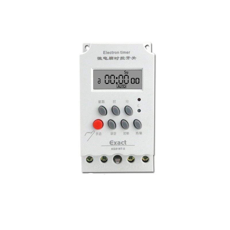 1 interruptor de tiempo del microordenador KG316T-II temporizador electrónico farola controlador de Tiempo encendido apagado 220V