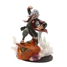 Naruto Shippuden Anime Gama-Bunta Gama Sennin Jiraiya, modelo de figura de acción de 21cm, figura coleccionable de la escena de batalla de la cooperación