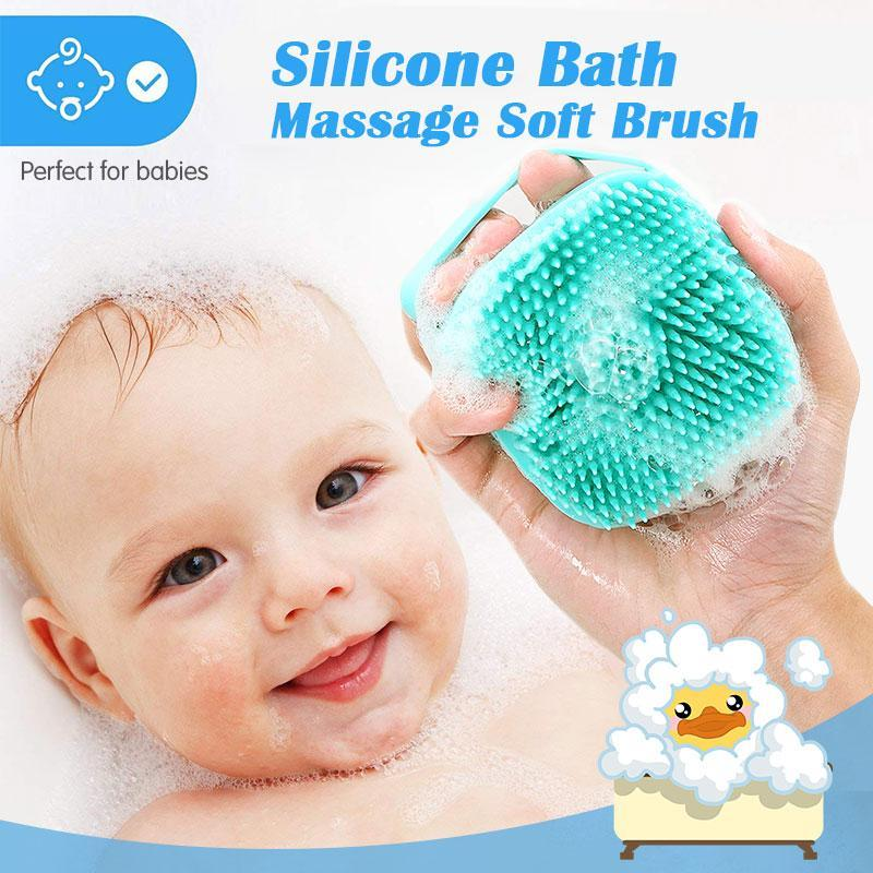 1pc Scalp Massage Brushes Silicone Comb Head Massage Bath Brush Body Props Pet Dog Bath Supplies Shampoo Container Brush enlarge