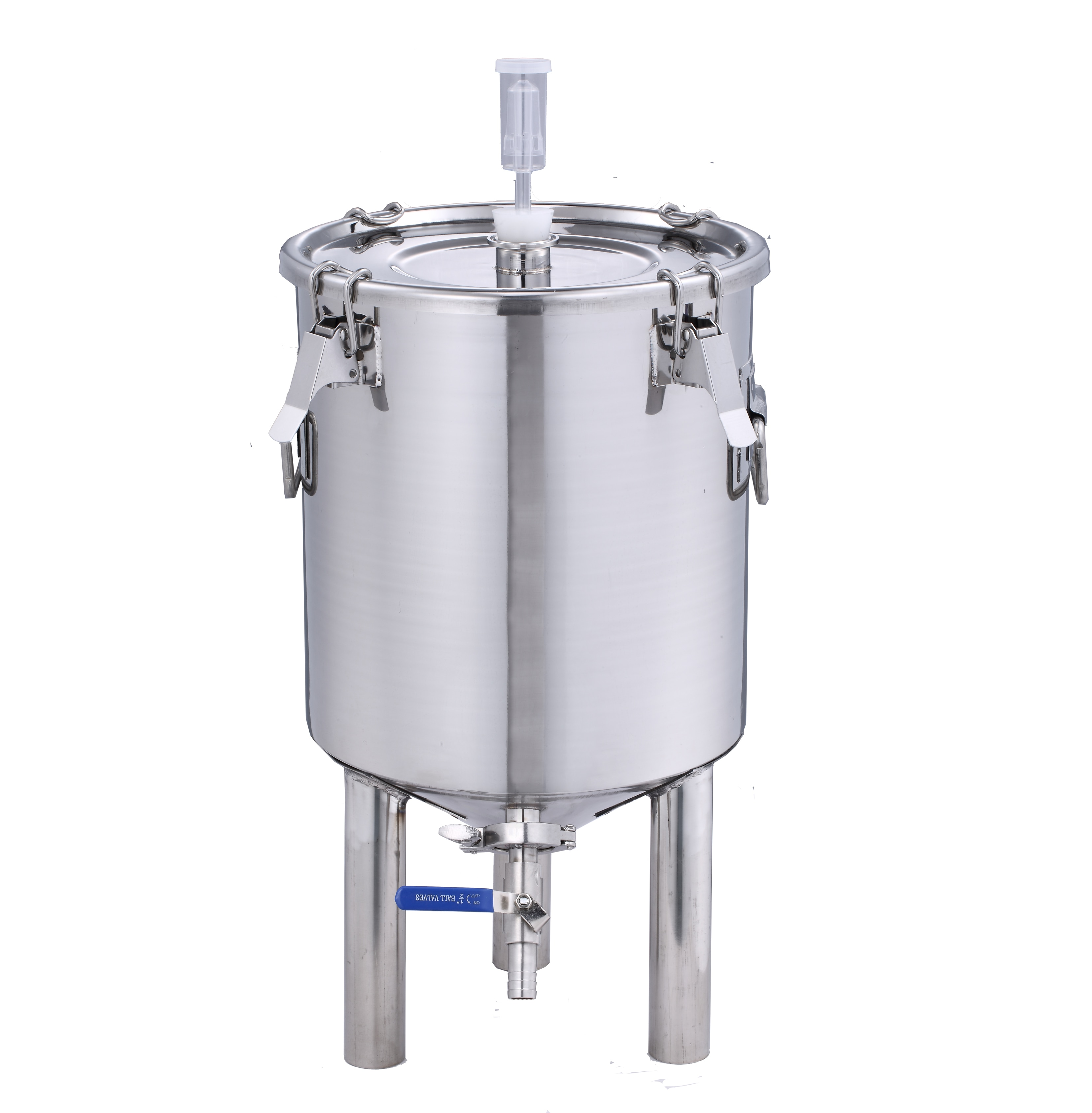 30L الفولاذ المقاوم للصدأ خزان البيرة و النبيذ خزان التخمير المخروطية تخمير 1.5 مللي متر سمك SUS 304 stainlesss الصلب Fementer